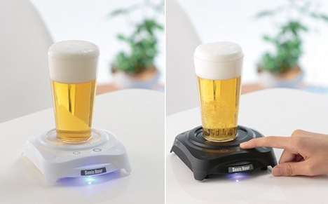 This Beer Foam Machine Creates Froth Through Ultrasonic Vibrations
