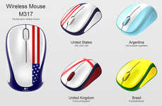Patriotic-Themed Computer Peripherals - The New Logitech Global Fan Collection Boasts Printed Flags