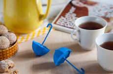Flashy Umbrella Tea Infusers - This Tea Infuser Does Less Storm Protection and More Coffee Creation