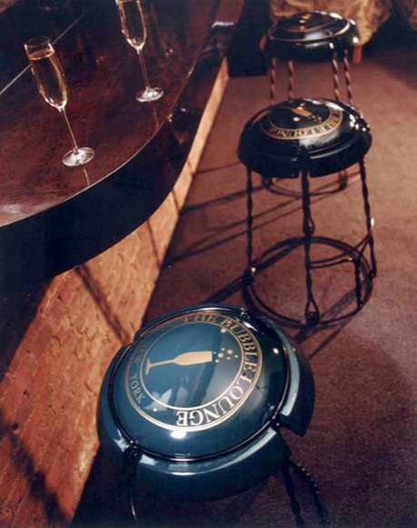 Champagne Cork Capsule Stools - Moët et Chandon Chairs