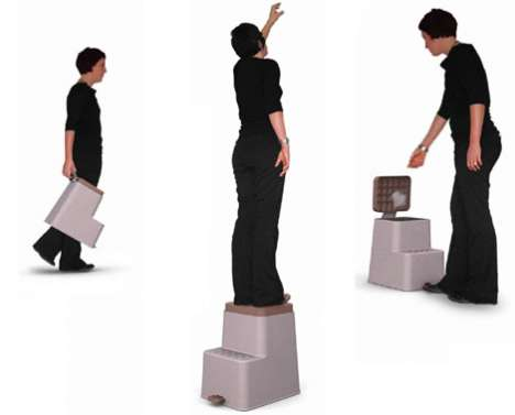 Garbage Can Stepping Stools