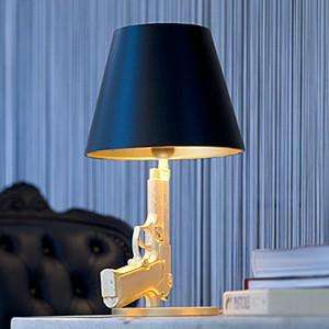 Machine Gun Lighting - Bedside Gun Lamp by Philippe Starck