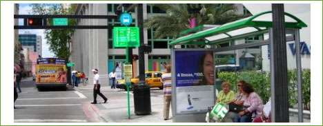 Solar Powered Bus Stop Ads