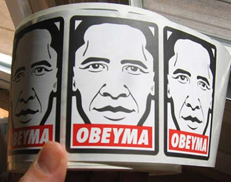 "Obama-Inspired ""Obeyma"" Stickers"
