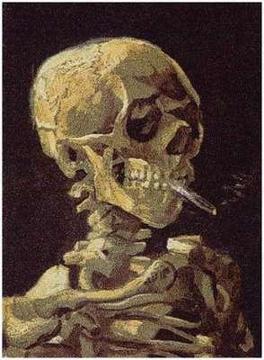 Skulls Made of 200,000 Cigarette Packs