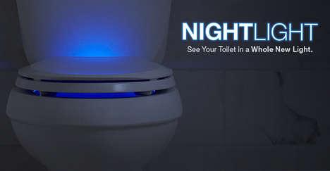 Illuminated Retina-Saving Toilets