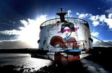 Abandoned Shipwreck Graffiti Art
