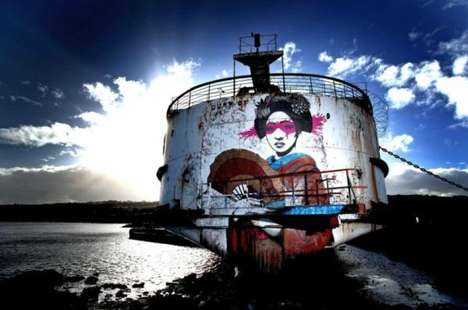 Abandoned Shipwreck Graffiti Art