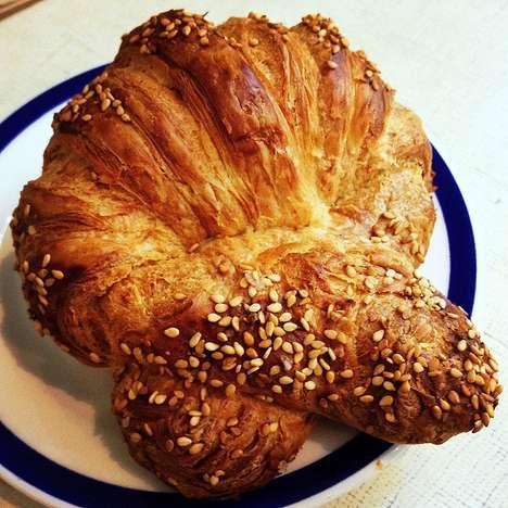 Twisted Pretzel Croissants