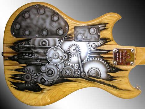 Customized Artistically Designed Guitars