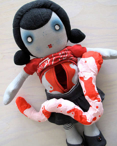 Hand-Made Undead Dolls - These Zombie Dolls Come with Removable Guts