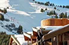 Rooftop Hot Tubbed Resorts - The L'Apogée Courchevel Luxury Ski Resort is Charming and Lu