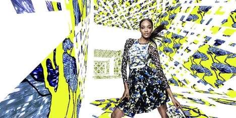 Clashing Print Fashion Ads