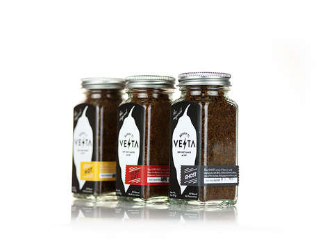 Fiery Hot Chili Packaging - Vesta's New Beautiful Packaging is Sizzling and Functional