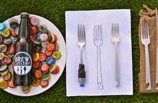 Creative Brew-Opening Cutlery - This Collection of Cutlery Has the Ability to Open Beer
