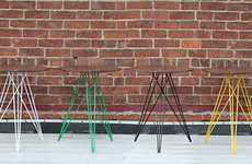 Tapered Wireframe Furniture Legs - The Hudson Side Table by Tronk Design is Like the Eiffel Tower