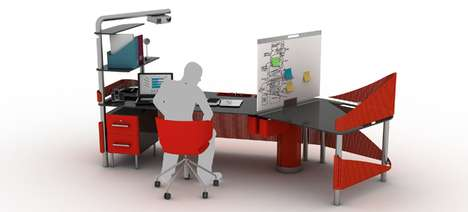 Adaptable Desk Designs - The Duo Office Workstation Flexibly Facilitates Individual and Group Work