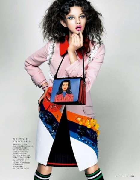 Abstract Face Fashion Editorials