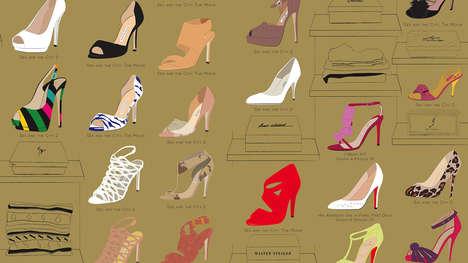 TV Show Footwear Illustrations