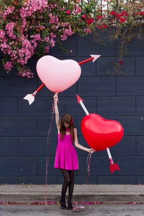DIY Cupid's Heart Balloons