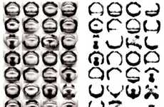 Alphabetical Facial Hair Fonts