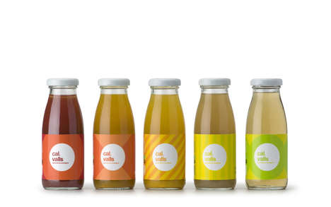 Basic Patterned Branding - Cal Valls Juice Packaging Features Simple Ingredient-Inspired Motifs
