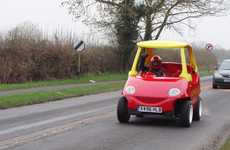 Operationally Transformed Toy Cars - The Little Tikes' Cozy Coupe is Turned into the ToyTown Coupe