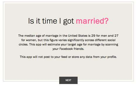 Predictive Proposal Apps - TIME's Facebook App Answers 'Is It Time I Got Married?'