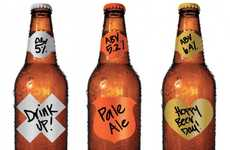 Dry-Erase Drink Stickers - Garage Monk Bottle Labels Are Writable and Reusable Home Brew Decals