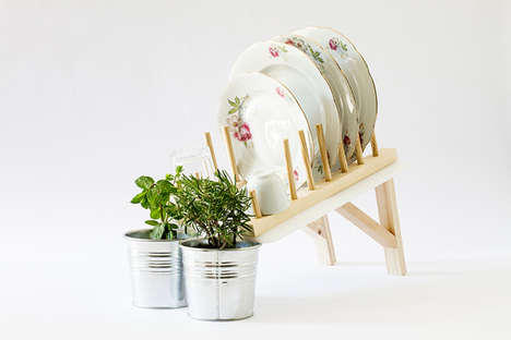 Plant-Watering Dish Trays