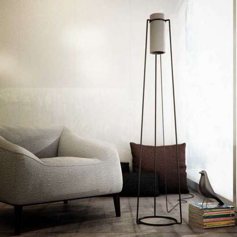 Cylindrical Concrete Lighting
