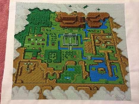 Stitched Pop Culture Maps