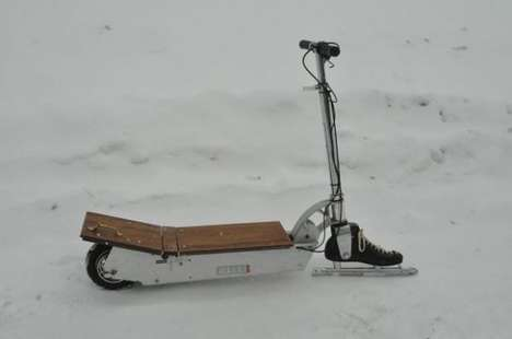 Ice-Traversing Electrical Scooters