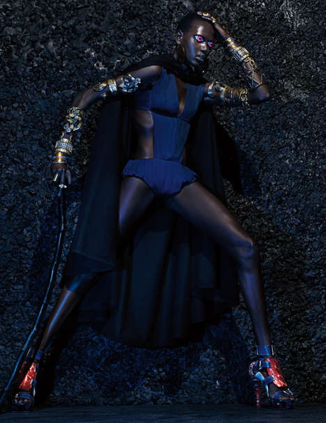 Otherworldly Warrior Princess Editorials - The W Mag Issue Gets Intergalactic