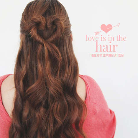 Valentine's Day Hairstyles - The Heart Bun by The Beauty Department is Romantically Girly