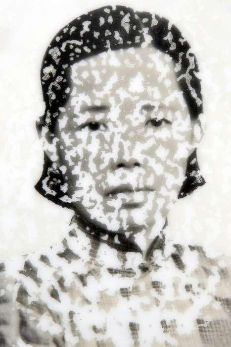 Weathered Tombstone Portraits