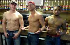 Hunky Topless Male Baristas