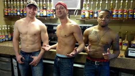 Hunky Topless Male Baristas