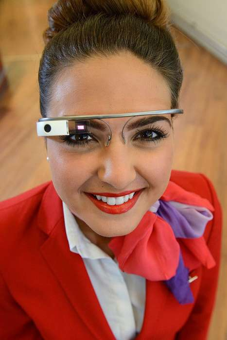 Tech-Enhanced Flight Services - Virgin Atlantic Airlines is Bringing Google Glass to the Sky