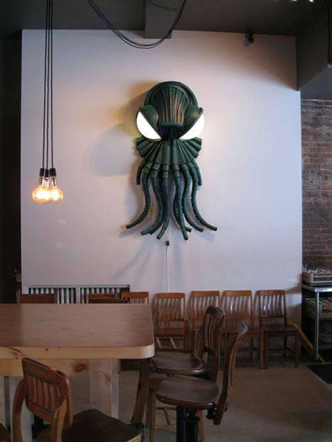 Upcycled Octopus-Inspired Lamps