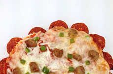 Pepperoni-Crusted Pizzas - This Pepperoni-Crusted Pizza is a Meat Lovers Dream