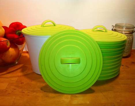 Self-Sterilizing Compost Containers - The Greenlid Compost Bin Can be Disposed Outdoors