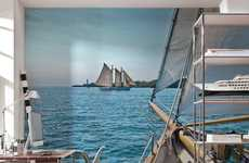 Serene Nautical Landscape Murals - Bring the Sea to You with the Sailing Wall Mural