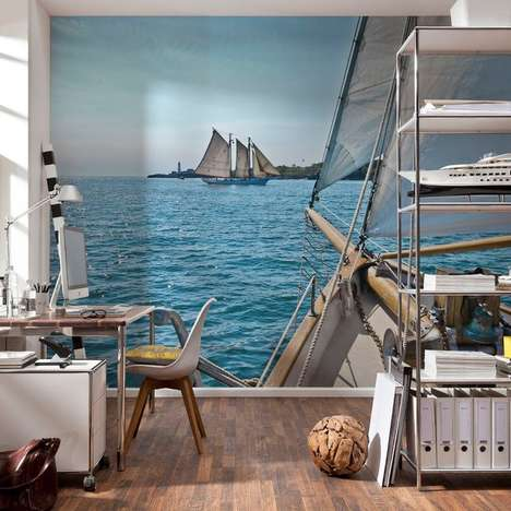 Serene Nautical Landscape Murals