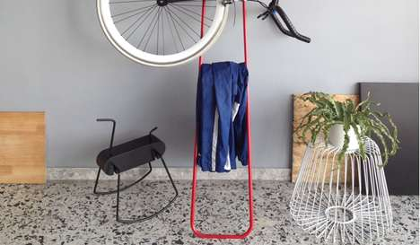 Bike-Accommodating Coatracks - The Tol Hanger Holds Jackets, Hats and Your Trusty Two-Wheeler