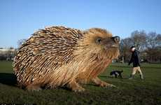 Giant Prickly Animal Sculptures