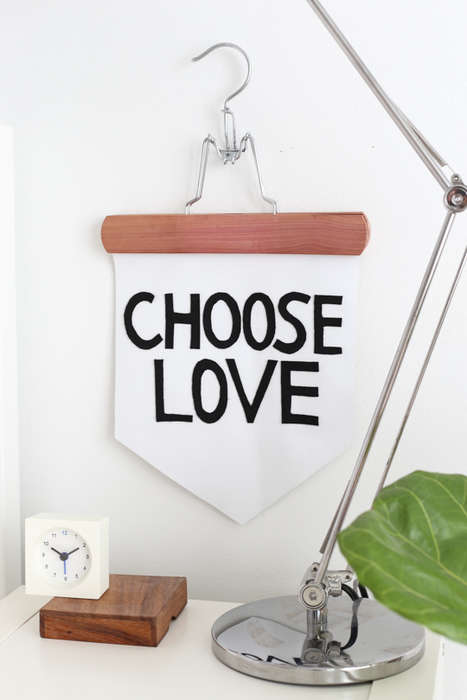 Motivational Wall Displays - This No-Sew Inspirational Banner Offers Kind Words of Encouragement