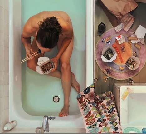 Indulgent Realistic Oil Paintings