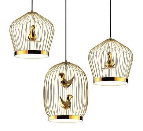 Bird Cage-Inspired Lighting