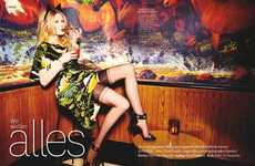 Seductively Bold Editorials - The Glamour Germany Cover Shoot is Femininely Edgy